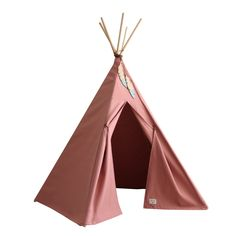 This beautiful dusky pink teepee makes a great play tent for a bedroom or playroom. Made from high-quality canvas and pinewood it is trimmed with a pair of wooden Indian feathers that is dipped in pale blue paint. Please note the flower garland shown in the lifestyle image is not included. We have coordinating circular floor mats available for inside the teepee. You can also add one of our corresponding beanbags , these will add another dimension to the teepee and come in a choice of colours and Teepee Nursery, Teepee Kids, Teepee Tent, Scandinavian Nursery Decor, Modern Nursery Decor, Nevada, Pale Blue Paints, Wooden Feather, Cushions To Make