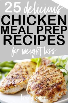 25 Healthy Chicken Meal Prep Recipes You'll Actually Enjoy Eating - New Site Tasty Meal, Clean Eating Snacks, Healthy Eating, Healthy Chicken Recipes For Weight Loss Clean Eating, Sunday Meal Prep, Chicken Meal Prep, Chicken Eating, Fat Burning Foods, Yum Yum Chicken