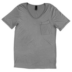 With loose V collar and double pocket this is both a RAD tee and solid design!