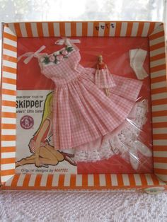"Vintage Skipper Barbie Outfit Clothes ""Me and My Doll"" 1913 RARE (Pink Flowers…"