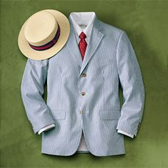 Clearly every gentleman must own at least a seersucker jacket, though a suit is prefered. It is absolutely the height of summer style.
