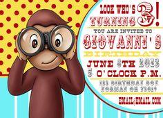 Curious George Birthday Invitation via Etsy