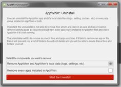 AppWhirr Uninstaller - welcome screen