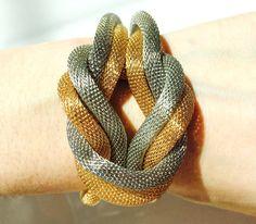 Silver and Gold Bracelet Gold Bracelet Silver by TheStillWillow