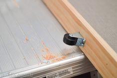 How To Build A Lightweight Sliding Barn Door - Vintage Revivals Diy Sliding Barn Door, Sliding Closet Doors, Diy Barn Door, Barn Door Hardware, Sliding Wall, Sliding Panels, Door Hinges, Accordian Door, Rideaux Design