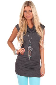 Lime Lush Boutique - Charcoal Fitted Cowl Neck Tee, $29.99 (http://www.limelush.com/charcoal-fitted-cowl-neck-tee/) #style #chronicleblog #lovefashion #new #fashionblog #instafashion #photomodel #beauty #trend #queen #day #us #follow #girl #princess #look #lookbook #like #beautiful #cute #sexy #iphonesia