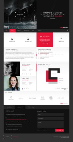 SUSPENSE | template on Behance