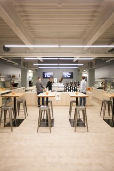 Square's Tricked-Out Office - the coffee bar is where they test devices #refinery29