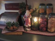 This blog has lots of beautiful primitive Christmas decor