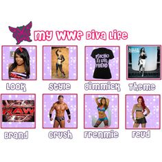 WWE Diva Life (Re-done), created by ittybittykittyy on Polyvore