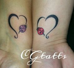 Lady bug tattoos
