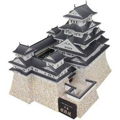This Architecture/Building Paper Model is Himeji Castle in Japan. This paper model is designed by canon papercraft. Himeji Castle is a hilltop Japanese cas Asian Architecture, Paper Architecture, Canon, Castle Crafts, Japanese Buildings, Free Paper Models, Himeji Castle, Paper Structure, Paper Crafting