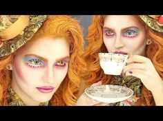 MAD HATTER GIRL ALICE IN WONDERLAND MAKE UP LOOK - HALLOWEEN TUTORIALS 2016 - MARIAM LUSO - YouTube