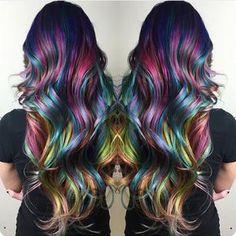 """"""" Breathtaking Rainbow Hair  By @christiedier #hotonbeauty"""""""