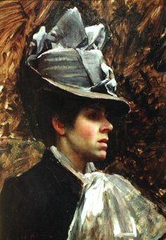 Pre Raphaelite Art: John William Waterhouse - Portrait of the Artist's Wife