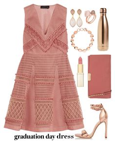 """Graduation"" by alynncameron ❤ liked on Polyvore featuring Michael Kors, Burberry, Links of London, River Island, S'well, Dina Mackney, L'Oréal Paris and graduationdaydress"