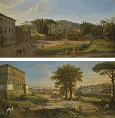 Gaspar van Wittel, called Vanvitelli TWO LANDSCAPES WITH THE VILLA ALDOBRANDINI AT FRASCATI AND THE VILLA FARNESE AT CAPRAROLA 700,000 — 1,000,000 GBP 938,350 - 1,340,500USD LOT SOLD. 777,000 GBP (1,041,569 USD)