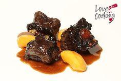 Blog Love Cooking Neff Rabo de toro guisado al vino tinto con manzanas caramelizadas y salsa de toffee
