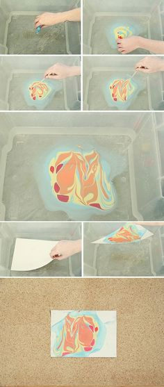 DIY: marbled paper