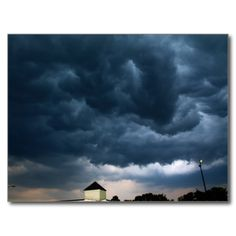 Impending Postcard (Pkg of 8) by KJacksonPhotography -- Taken 07.23.2014 Stormy skies in Orono, Maine just before a thunder and lightning storm at a shopping plaza. PC:129.152  #nature #maine #impendingstorm #stormysky #stormyskies #postcard #postcards