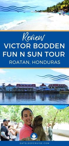 See all the island highlights including animal encounters with monkeys and sloths with the Victor Bodden Fun n Sun Tour in Roatan, Honduras. Packing List For Cruise, Cruise Tips, Cruise Travel, Cruise Vacation, Cruise Port, Cruise Excursions, Cruise Destinations, Shore Excursions, Caribbean Vacations