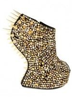 "Extreme Footwear: 11 Pairs That Push The Limit #refinery29  http://www.refinery29.com/extreme-shoes#slide-10  A spiked pair of Zanottis will definitely do some damage (to your wallet and any errant passersby).Giuseppe Zanotti Spiked Wedges, $3,025, available at <a href=""http://www.luisaviaroma.com/index.aspx#getData.aspx