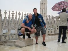 Doug and I on the top of the Milan Cathedral.
