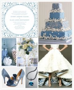 Classic Blue Inspiration Board #weddings