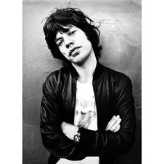 Satisfaction Mick Jagger is a Heuer Guy! ❤ liked on Polyvore featuring mick jagger