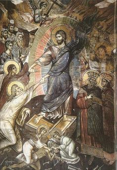 Christ is risen! Religious Images, Religious Icons, Religious Art, Byzantine Art, Byzantine Icons, Holy Saturday, Life Of Christ, Religious Paintings, Russian Icons