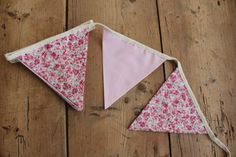 Pink Bunting Banner by annasbluebellblue on Etsy