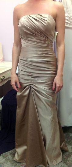 Impression bridal bridesmaid dress in bronze