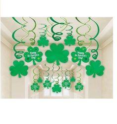 St Patricks Day Decorations Shamrock Hanging Swirl Irish Home Party Decor Set   Check out more of cool St. Patrick's Day stuff at http://9nl.cc/cat_stptday   #st #patricks #day #stpatrick #stpatricksday #stpattysday #shamrock #leprechaun #luckycharms #drink #parade #green #irish #ireland #paddy #paddysday #party #luckoftheirish #potofgold #shamrock #kissmeimirish #gotgreen