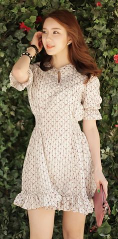 [Luxe Asian Women Dresses Fashion Style Korean Model Fashion Clothing] Moulin Rouge Rose Dress