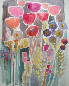 Original Watercolour Painting - Floral - Signed Annabel Burton
