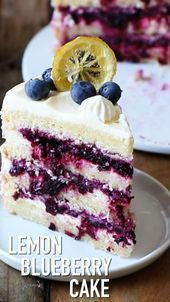 Low Carb Recipes To The Prism Weight Reduction Program This Super Delicious Lemon Blueberry Cake Is Easy To Make And Comes With Detailed Step-By-Step Instructions. Lemon Blueberry Cake Recipe By Also The Crumbs Please Easy Cake Recipes, Easy Desserts, Baking Recipes, Cookie Recipes, Dessert Recipes, Dessert Food, Sweet Desserts, Pie Recipes, Light Summer Desserts