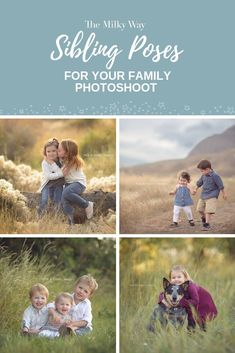 Family Photography Posing Ideas: Sibling Poses The Milky Way | Getting the small humans together for a photo may feel like herding cats, but there are several strategies you can use depending on their ages. Here is some inspiration! If you're looking for posing ideas for your kids or posing ideas for your next family photoshoot then we've got you covered. Are you a family photographer or newborn photographer and looking for new poses for siblings during an outdoor photography shoot?…