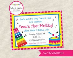 Music birthday invitation music birthday music printables music diy music birthday party invitation only hot pink version print your own invitations for a musical theme filmwisefo