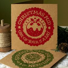 Individually hand printed eco friendly Christmas cards, using extra thick recycled kraft card and solvent free inks. Christmas Card Packs, Christmas Crafts, Creative Lettering, Hand Lettering, Modern Calligraphy, Eco Friendly, Recycling, Typography, My Love