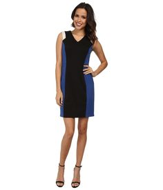 MARC NEW YORK BY ANDREW MARC Sleeveless Color Block Sheath Dress. #marcnewyorkbyandrewmarc #cloth #