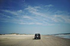 Sand highway in #OBX  #carolla #North Carolina #Jeep #Beach