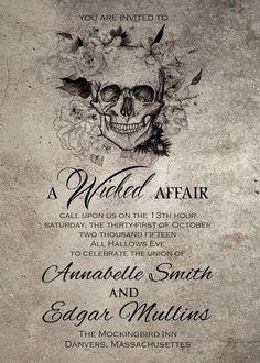 Gothic Wedding Invitation Gothic Wedding Invitation And RSVP Card #weddinginvitation