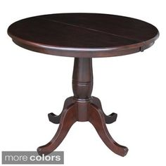Shop for Round 36-inch Pedestal Table with 12-inch Leaf. Get free shipping at Overstock.com - Your Online Furniture Outlet Store! Get 5% in rewards with Club O! - 16585235