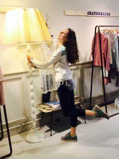 Sabine at ottod'Ame store Firenze #ottodame #ss15 #Firenze