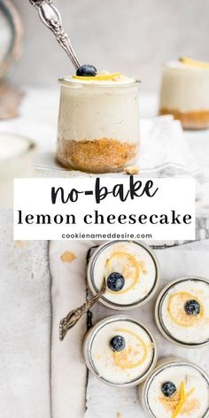 You don't need an oven to make this creamy no-bake lemon cheesecake. Perfect for quick desserts to satisfy your sweet tooth Lemon Desserts, Lemon Recipes, Sweets Recipes, No Bake Desserts, Baking Recipes, No Bake Lemon Cheesecake, Cheesecake Recipes, Lemon Cookies, No Bake Treats