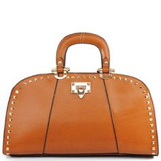 Amazon.com: New Arrival Fashion Unique Handle and Unique Shape Structured Diamond Shape Rivet Studded Tote Satchel London Office Tote Handbag Purse with Adjustable Shoulder Strap in Brown: Clothing $53.99