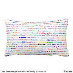 Cara Text Design II Lumbar Pillow