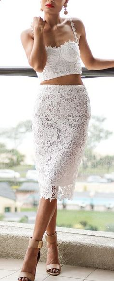 White Lace Separates
