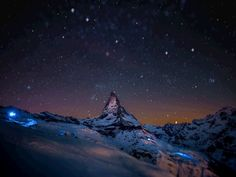Mountain and stars gif image