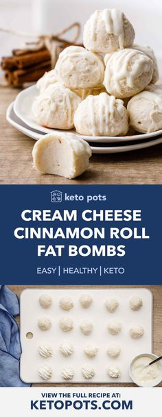 Cream Cheese Cinnamon Roll Fat Bombs (High Fat Keto Snack) - Keto Pots breakfast dessert diet for beginners dinner recipes meal plan recipes snacks Desserts Keto, Keto Snacks, Dessert Recipes, Dinner Recipes, Breakfast Recipes, Breakfast Gravy, Breakfast Cereal, Keto Sweet Snacks, Eat Breakfast